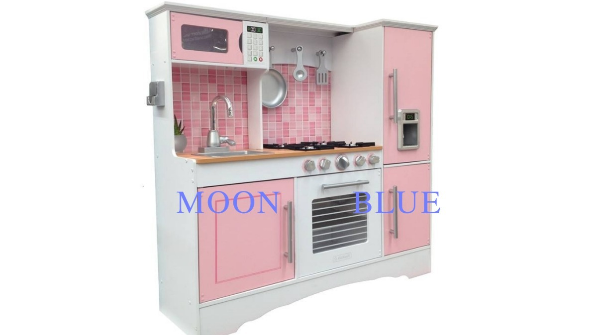 Cocina Kidkraft Juguete Madera Color Rosa Nios