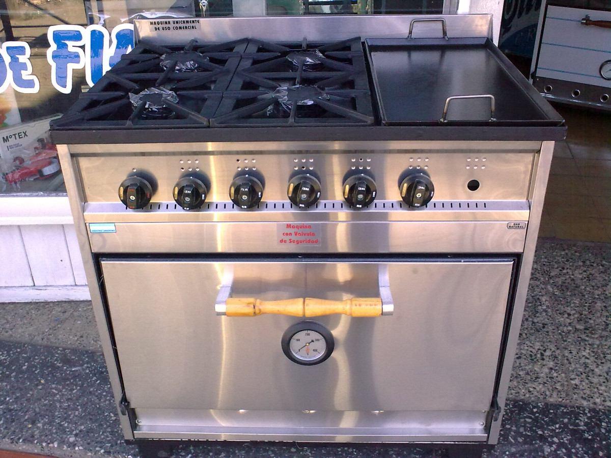 Cocina Semi Industrial 4 Hornallas  Plancha Tecno Calor