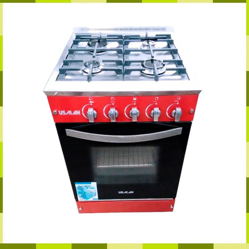 Cocina Semi Industrial Usman 4 Hornallas 55 Cm Puerta