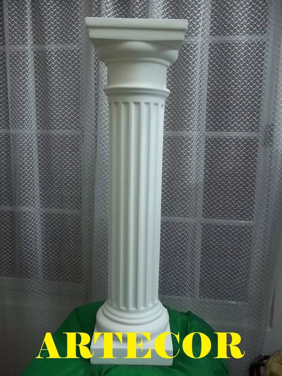 Columna Drica De Yeso  De 1 Metro Blanca   104000
