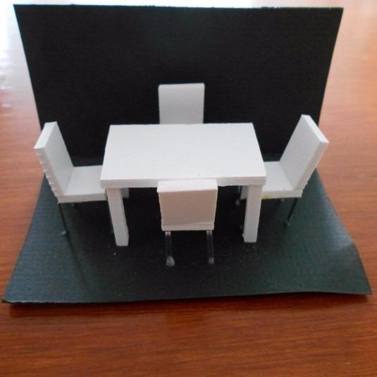 Comedor A Escala 150 Y 175 Para Maquetas Arquitectnicas