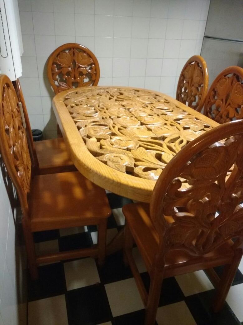 Comedor Y Sala De Madera Tallado A Mano   1750000 en