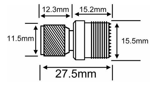 Conector Recto Mini Uhf Macho A Uhf Hembra Para Motorola
