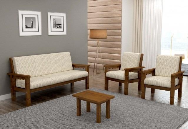 Conjunto De Sofa De Madeira 311 Scholl  R 239900 em