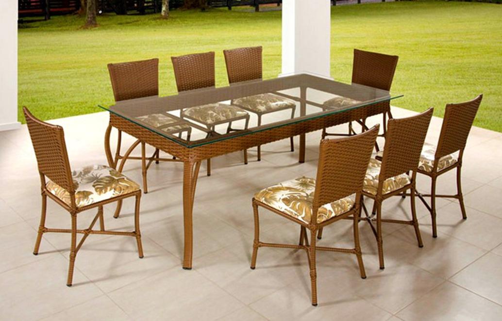 Conjunto Para Sala De Jantar Mesa E 8 Cadeiras  R 2548