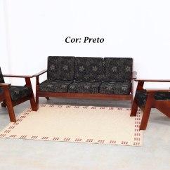 Sofa Usado No Mercado Livre Venetian Conjunto Sofá De Madeira C Espuma R 989 00 Em