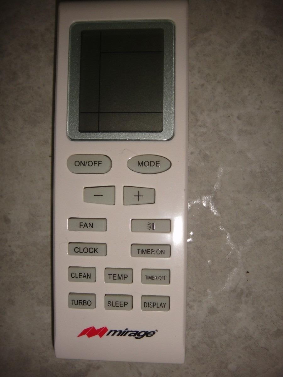 Control Remoto Para Minisplit Mirage   50000 en Mercado