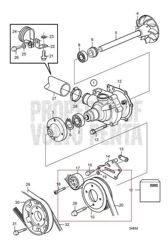 Correia Bomba D'agua Volvo Penta Kad42/43/44/300 Ref