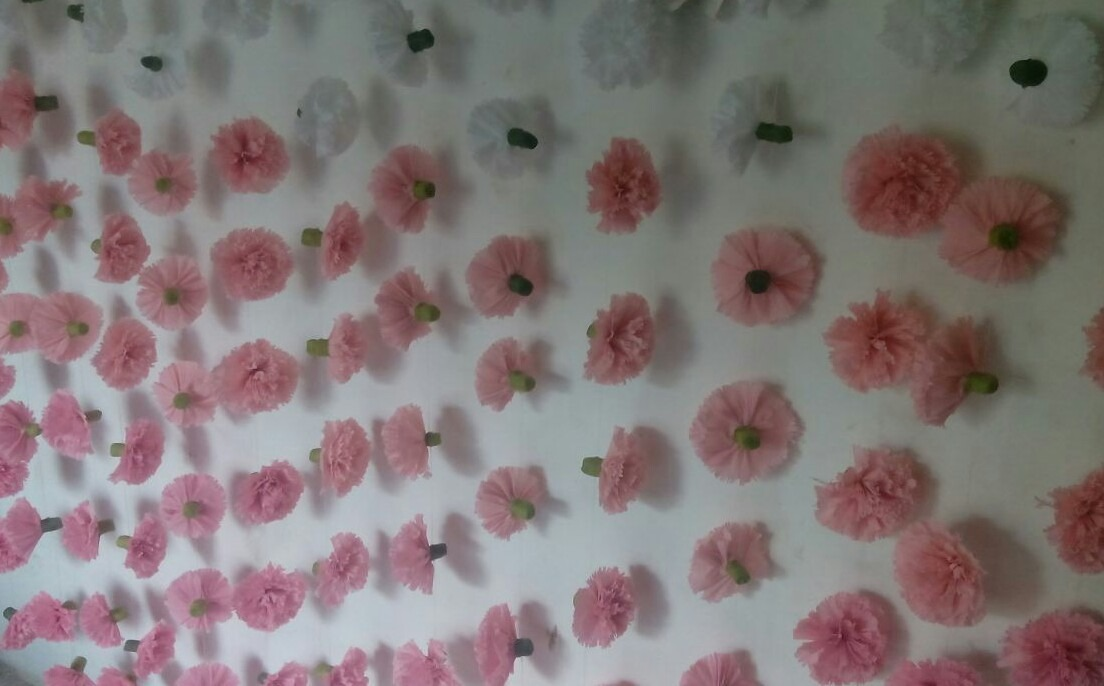 Cortina De Flores De Papel Crepe   49900 en Mercado Libre