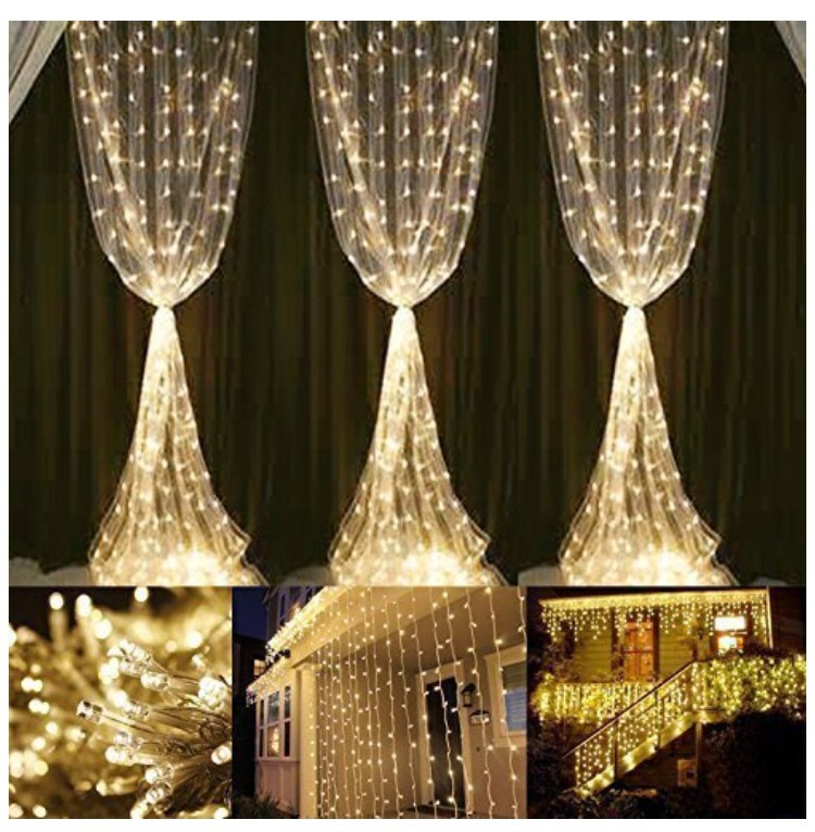 Cortina De Luces Led 6x3 600 Led Decoracin Navidad Bodas