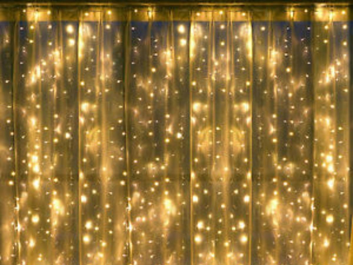 Cortina De Luces Led Calidas De 3x3 Deco Eventos O