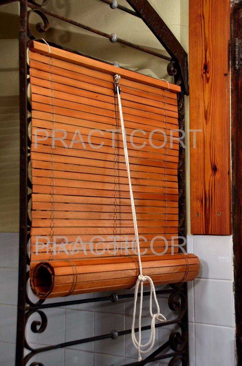 Cortina De Madera Enrollable no Junco No Bamb X Mt2