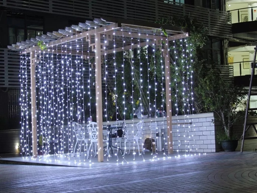 Cortina Led Blanco Frio 3x3 Bodas Decoracion