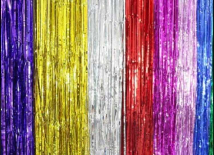 Cortina Metalizada Colores Hora Loca Fiesta Eventos   6