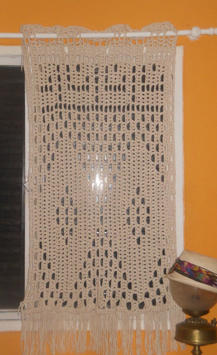 Cortina O Visillo Tejida Al Crochet   29000 en Mercado Libre