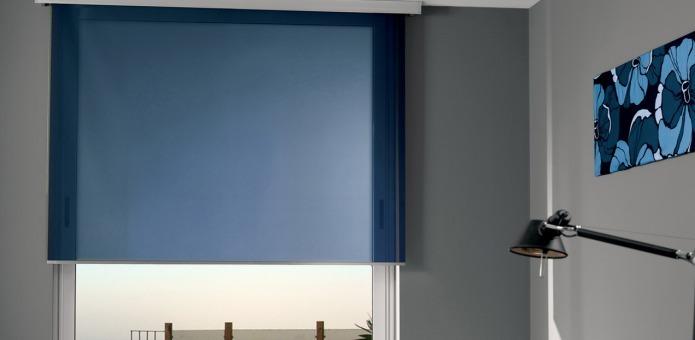 Cortina Persiana Rolo Azul Marinho Sob Medida Sala Quarto