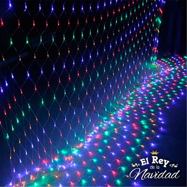 Cortina Red Luces Led Multicolor Navidad Decoracion