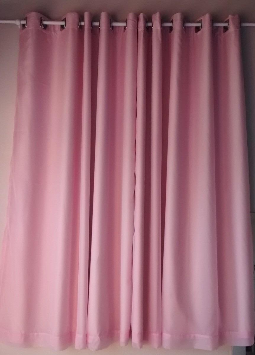 Cortina Rosa Em Voil Com Blackout  R 10000 em Mercado Livre