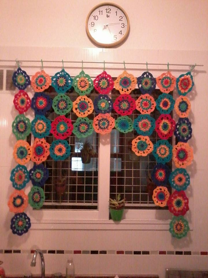 Cortina Tejida A Crochet   90000 en Mercado Libre