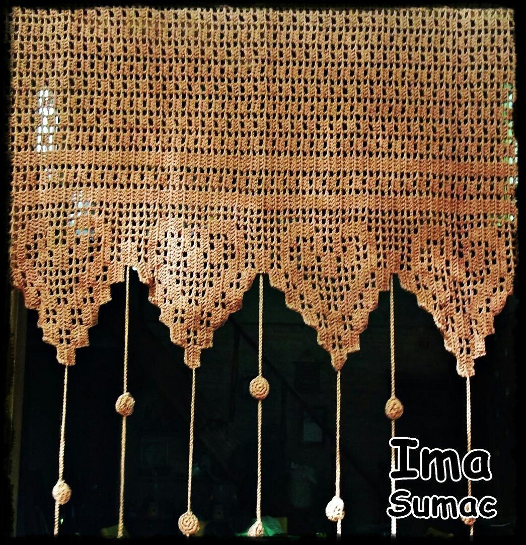 Cortina Tejida Al Crochet Artesanal   100000 en