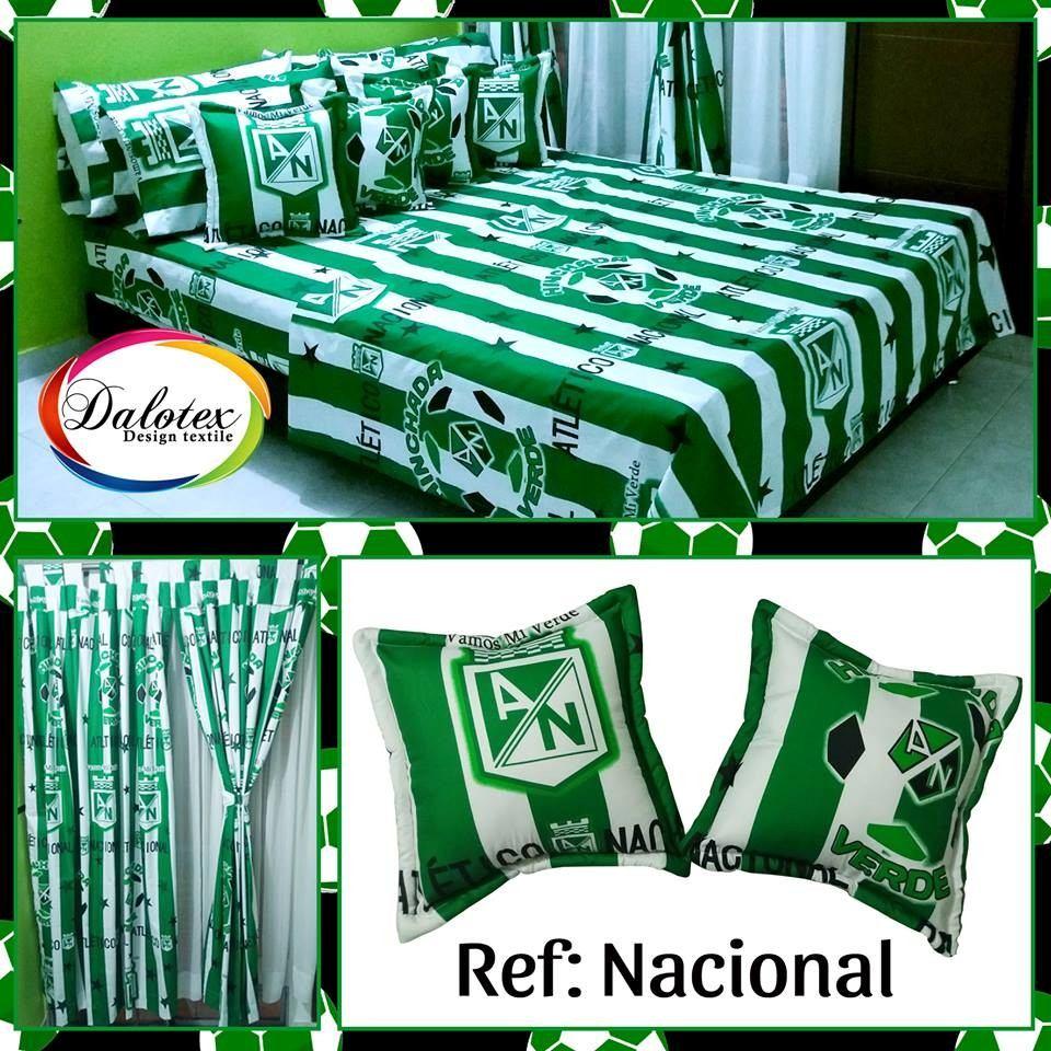 Cortinas Dos Paneles Equipos De Ftbol Atletico Nacional   60000 en Mercado Libre