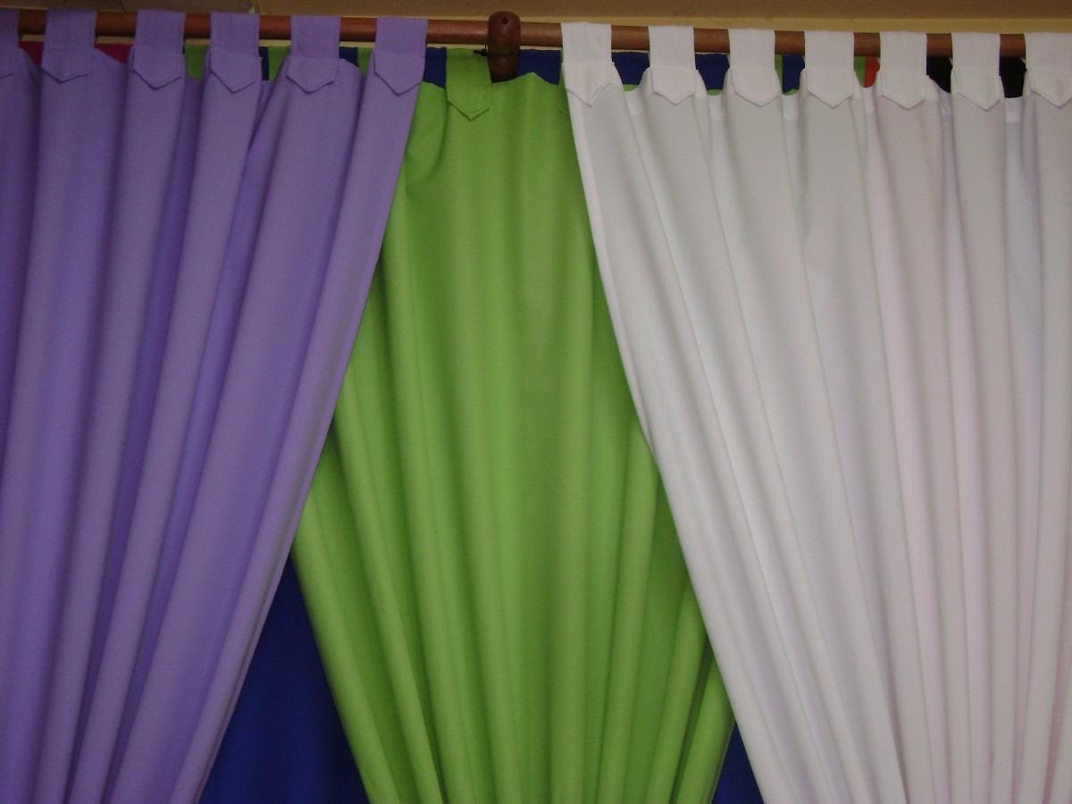 Cortinas En Tela Panam  Variedad De Colores  190 X 150