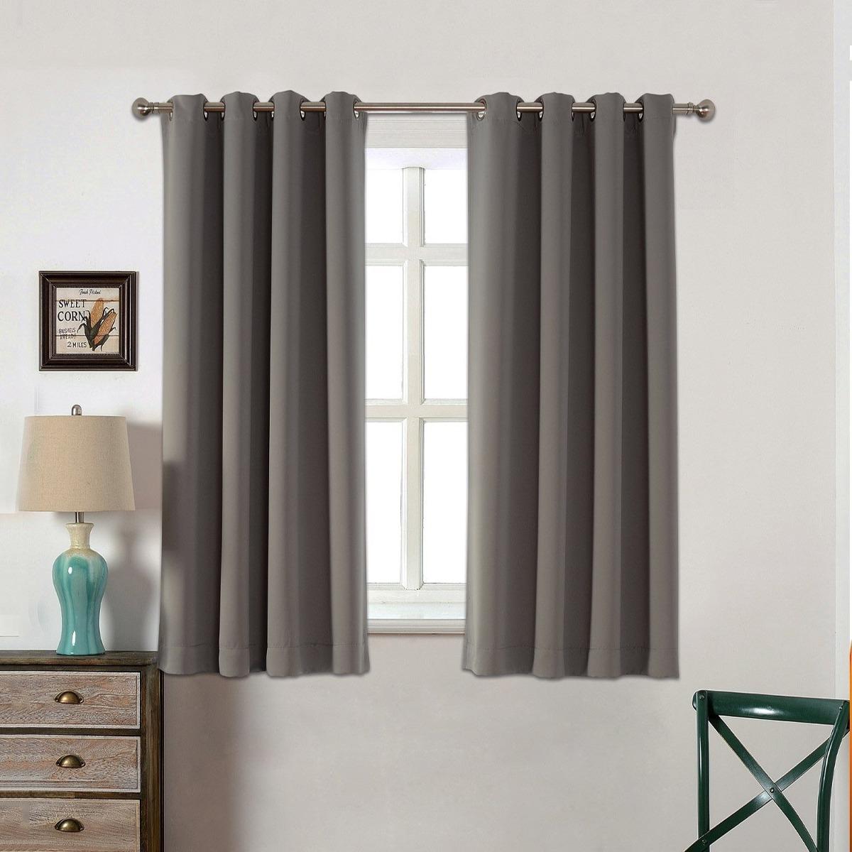 Cortinas Para Dormitorio Acelitor 52x63 Pulg gris