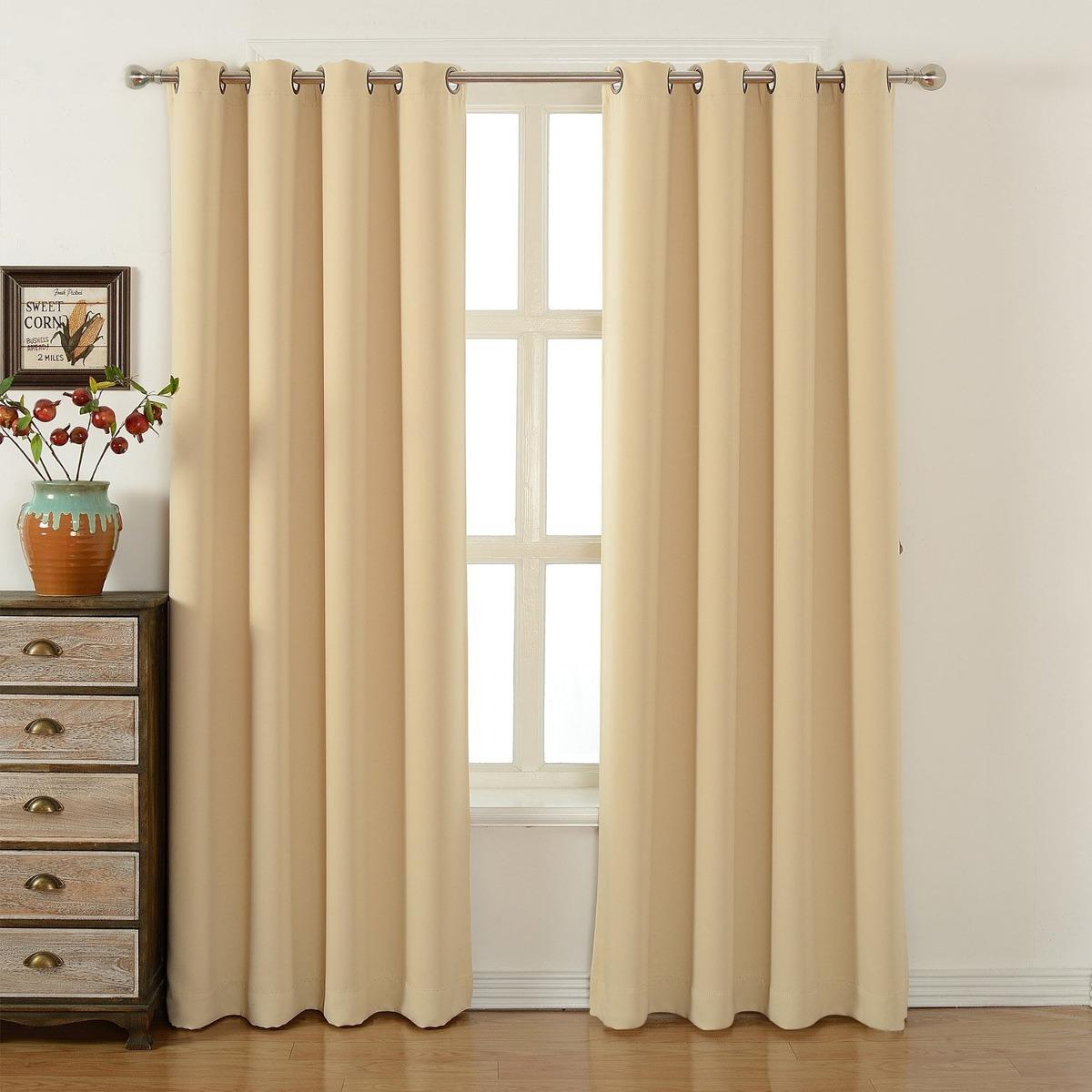 Cortinas Para Dormitorio Acelitor 52x84 Pulg beige
