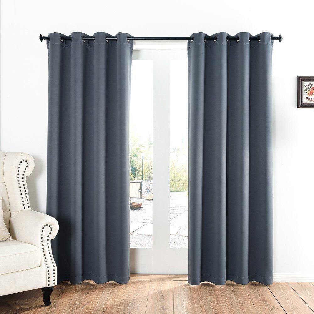 Cortinas Para Dormitorio Acelitor 52x84 Pulg gris