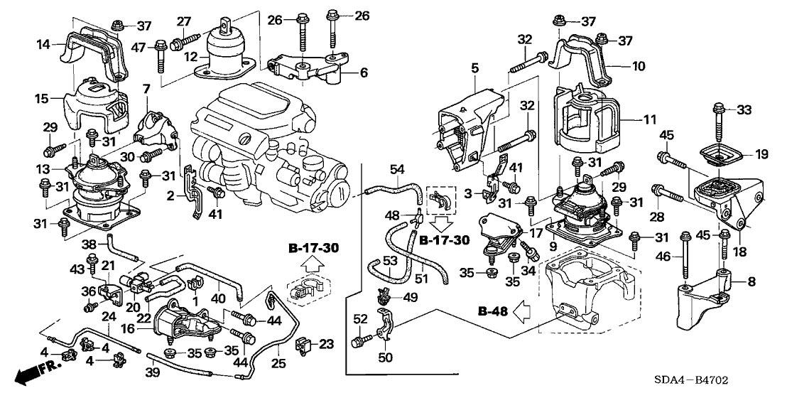 Coxim Motor Traseiro Accord 3.0 V6 2003 2004 2005 2006