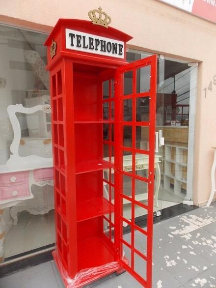 Cristaleira Cabine Telefnica De Londres  R 138000 em