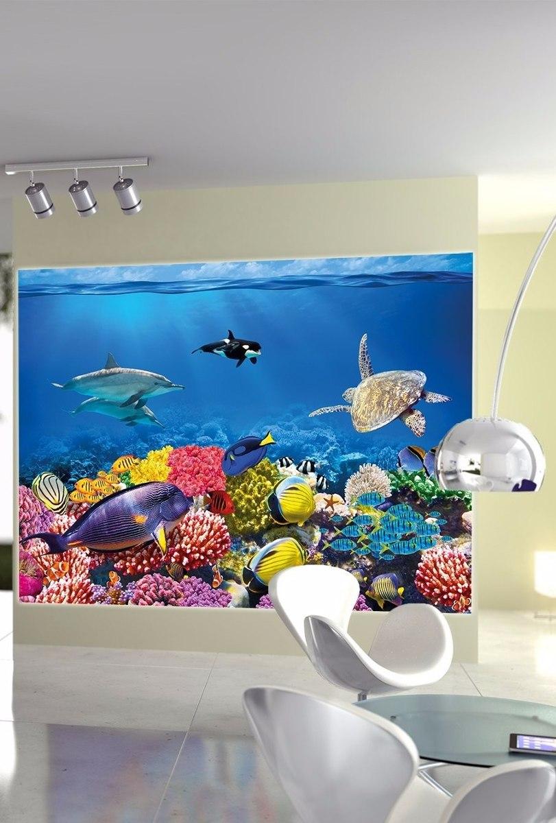 Cuadro Acuario Peces Corales Buceo Decoracion Sala Cuarto   200000 en Mercado Libre
