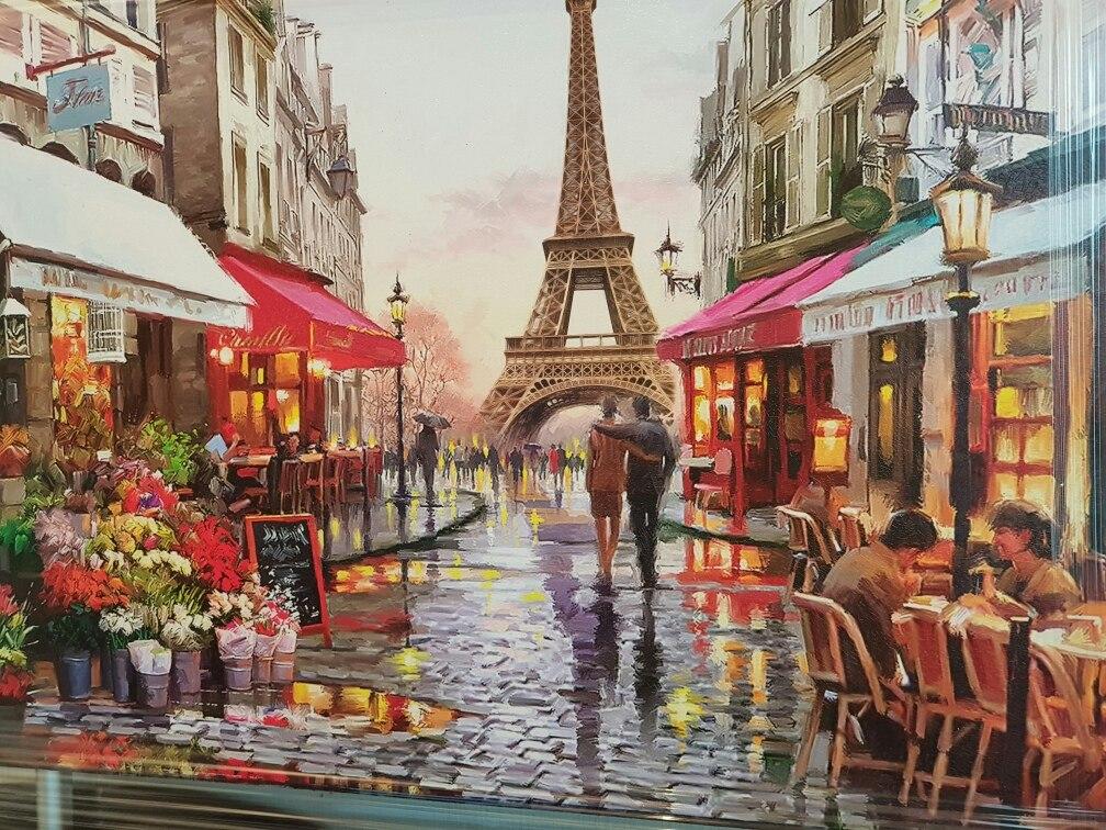 Cuadro Decorativo Paris Torre Eiffel Colores Cuadro D