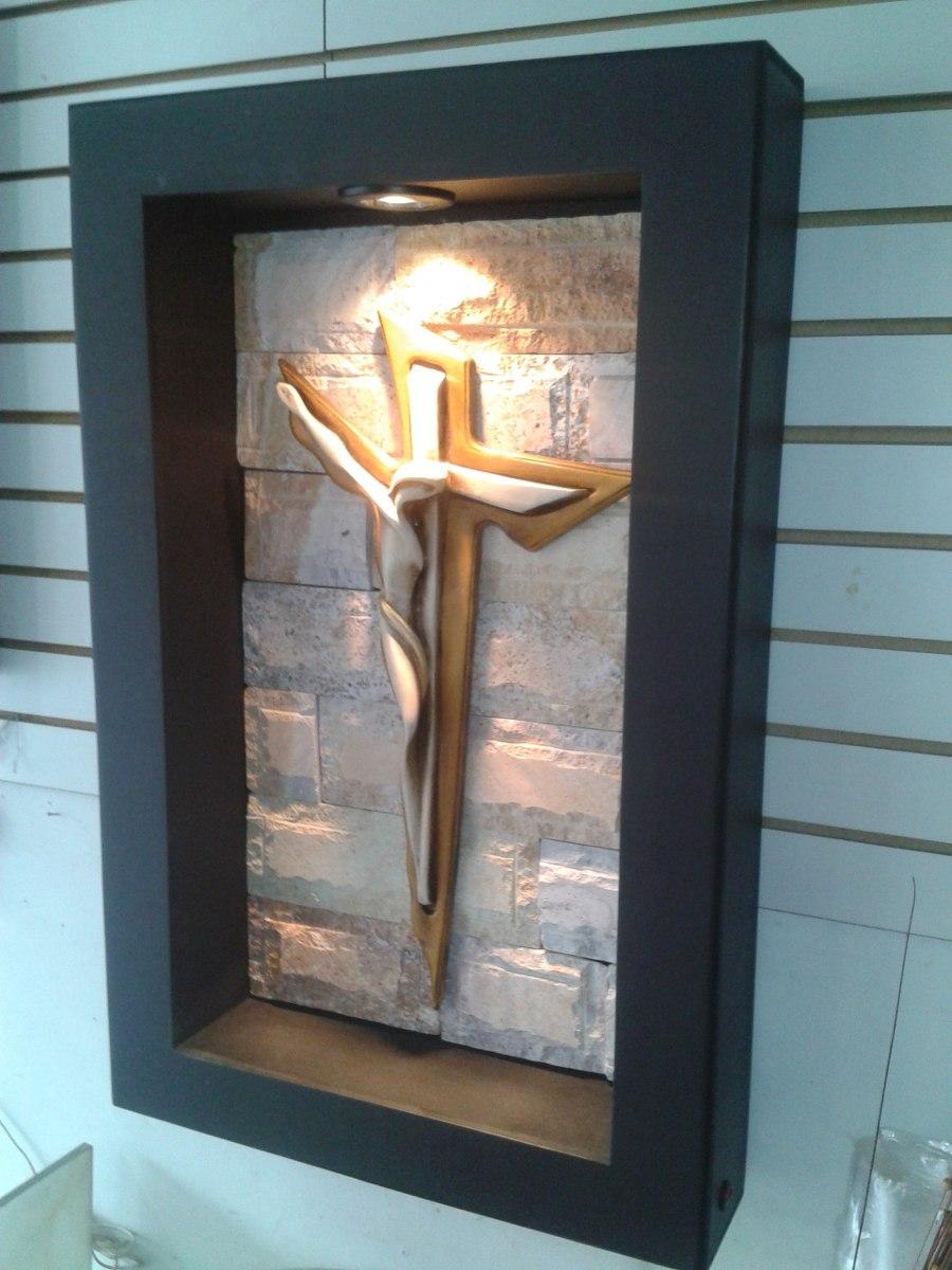 Cuadro Moderno Lampara De Pared Cristo Dali Con Luz   175000 en Mercado Libre