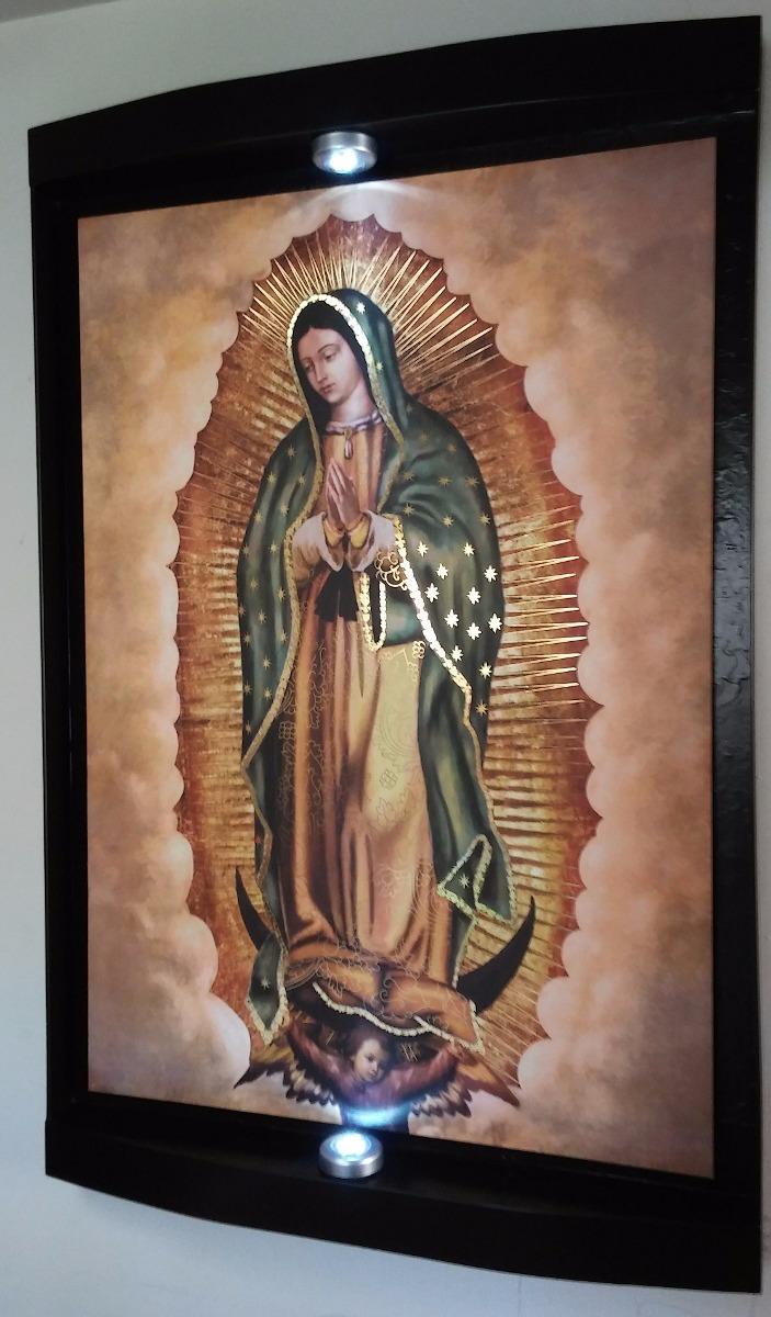 Cuadro Virgen De Guadalupe Luces Led Inalambricas