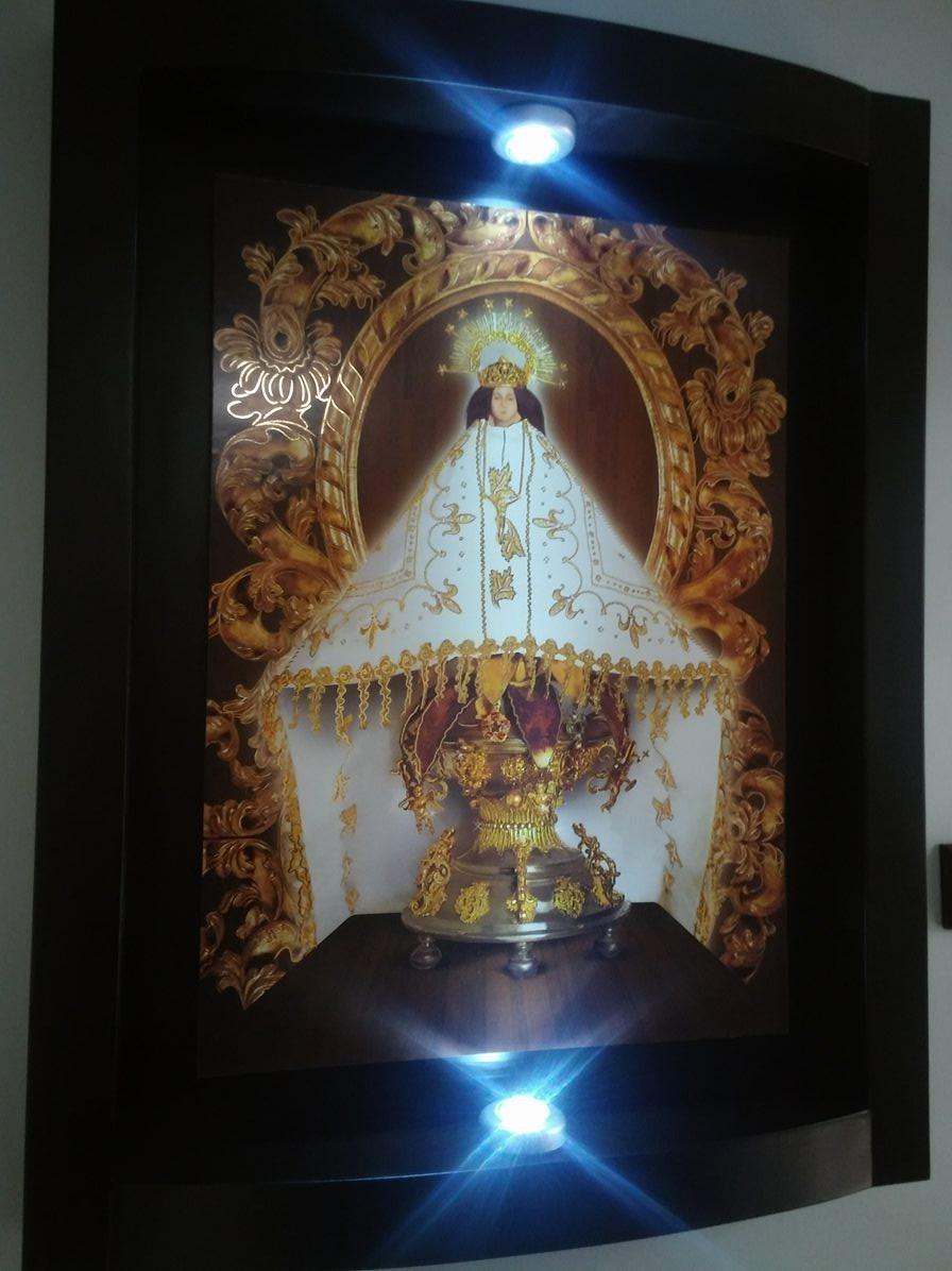 Cuadro Virgen De Juquila Con Luz Inalambrica   199900
