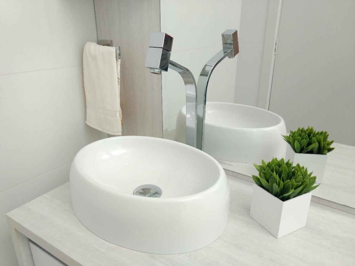 Cuba Pia De Apoio Banheiro Oval 40cm X 30cm Ipanema Branco