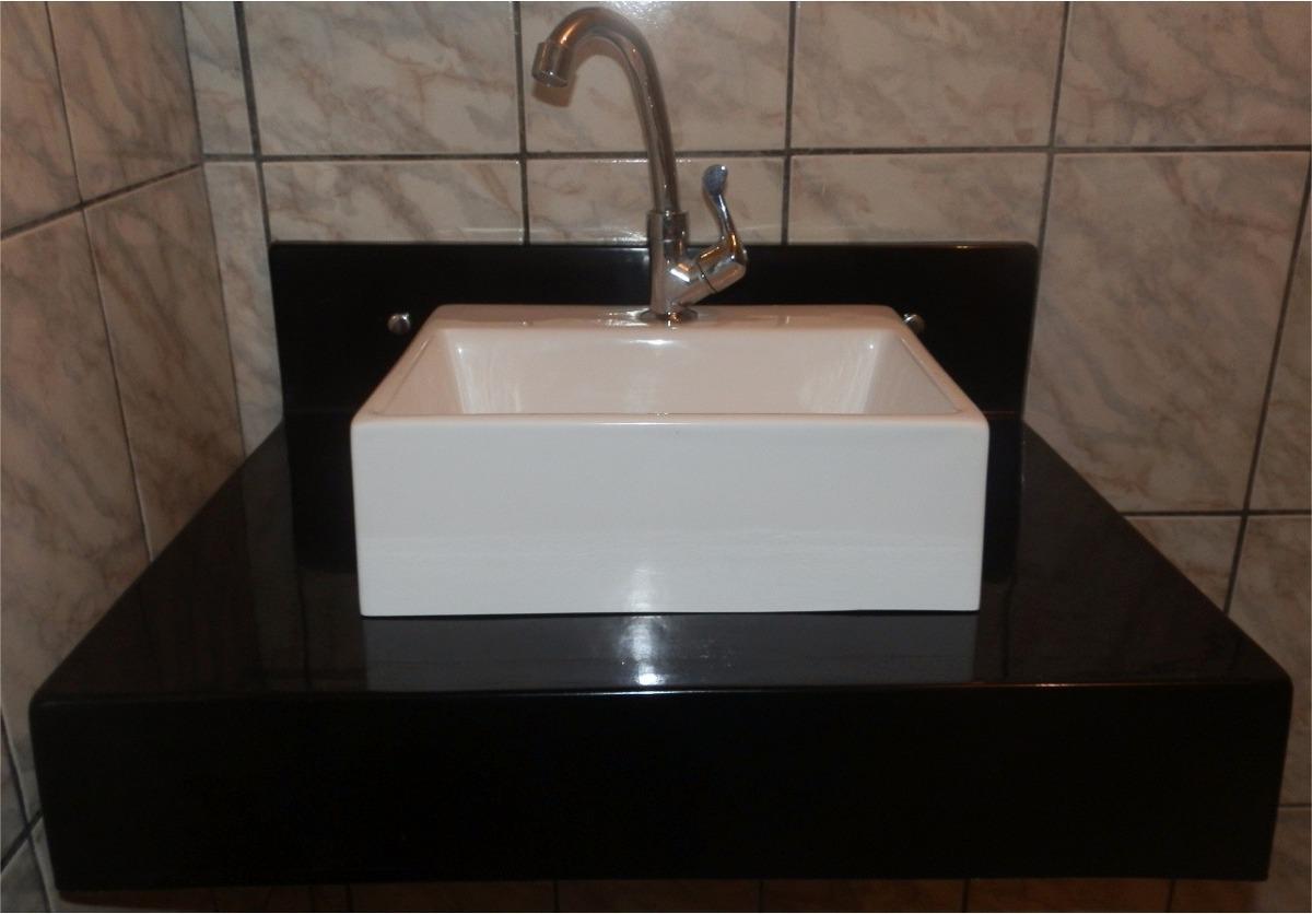Cuba Sobrepor Para Banheiro Quadrada Modelo Pequena 34x29