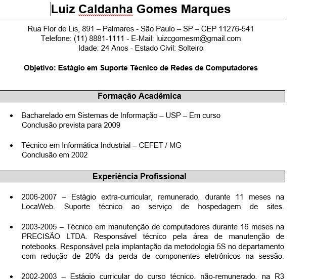 Gerador De Curriculum Vitae Online Com Foto 9 Modelos De