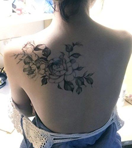 Dalin 4 Hojas Sexy Tatuajes Temporales Para Mujeres Flores C