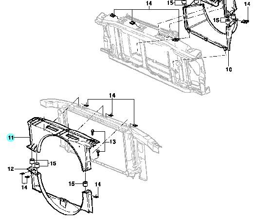 Defletor Superior Radiador S10 Blazer 2.8 Turbo