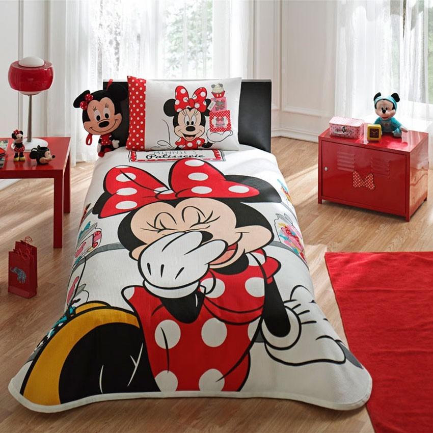 Disney Minnie Mouse Patisserie Jogo De piquet Cama