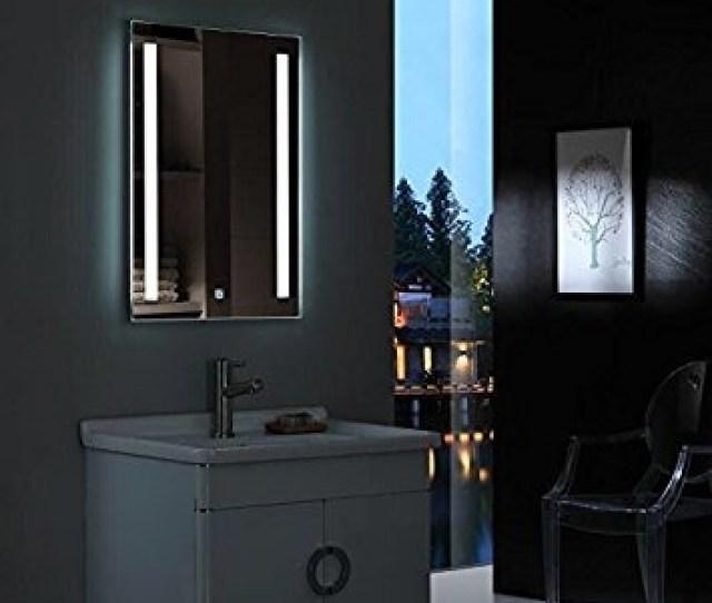 Diyhd W36 X H24 Wall Mount Led Lighted Bathroom Mirror Van