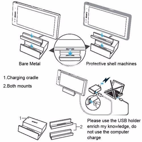 Dock Cargador Magnético Xperia Z1, Z2, Z3, Compacts