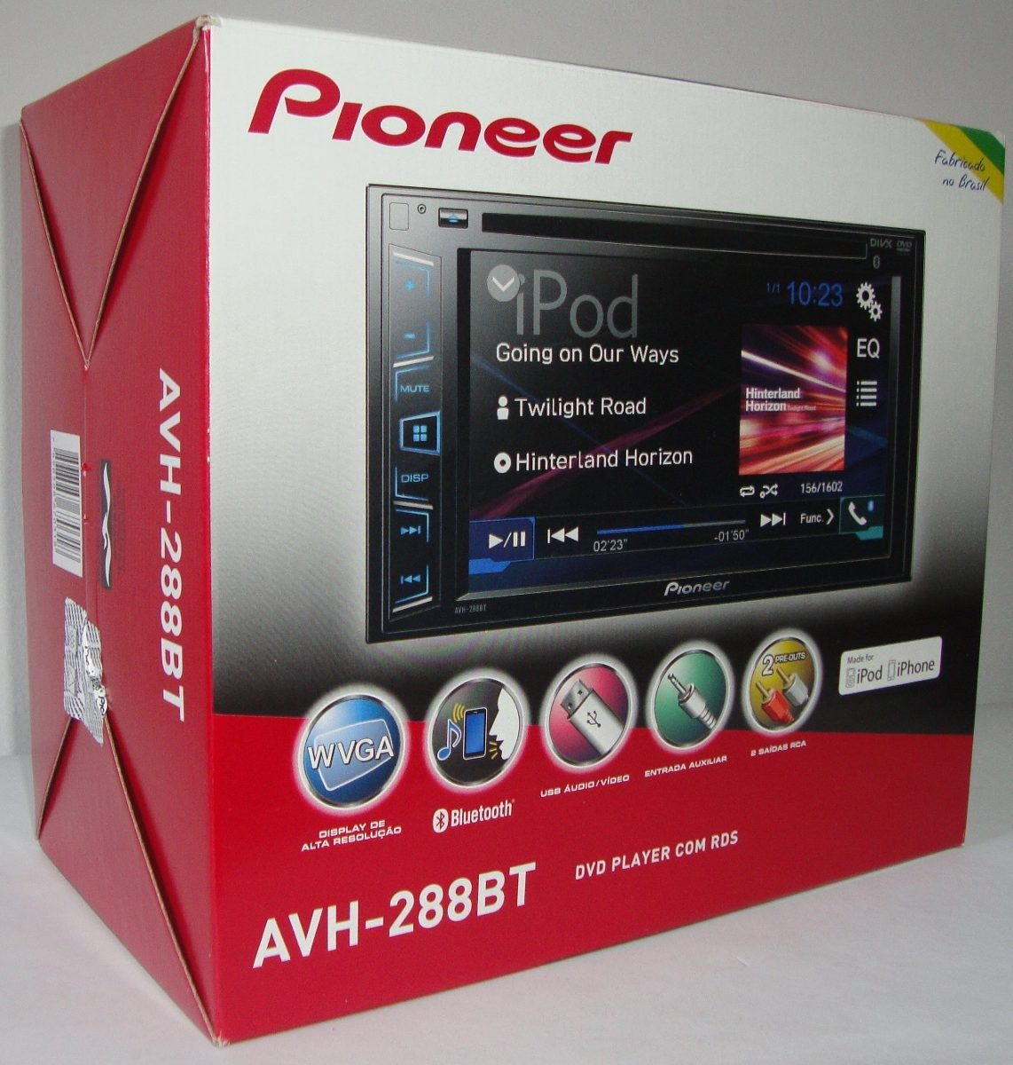 pioneer avh 288bt qual formato de video wiring diagram for truck to trailer dvd player 2 din 6 bluetooth microfone