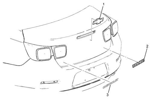 Emblema Traseiro Original Gm Chevrolet Malibu Ltz