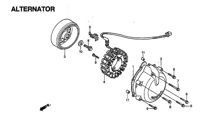 Embobinado O Estator Honda Magna Vf 750c Vf750c 94 A 03