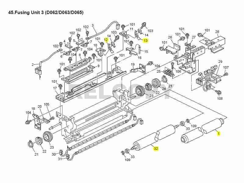 Engrenagem Rolo Fusor Ricoh Mp 6500/7500/8000/6001/7001