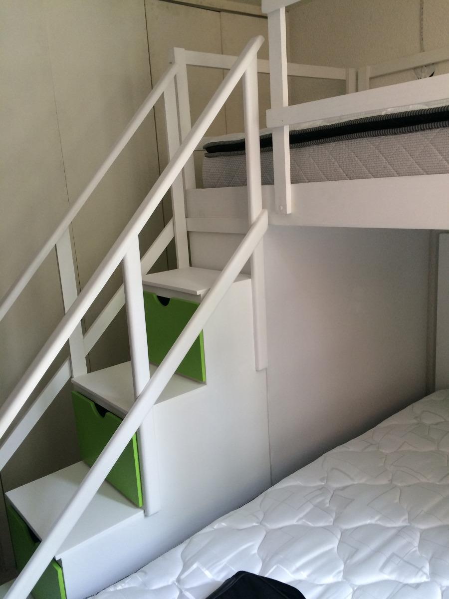 Escalera Para Litera Con Barandales Y Cajones Lagunilla   350000 en Mercado Libre