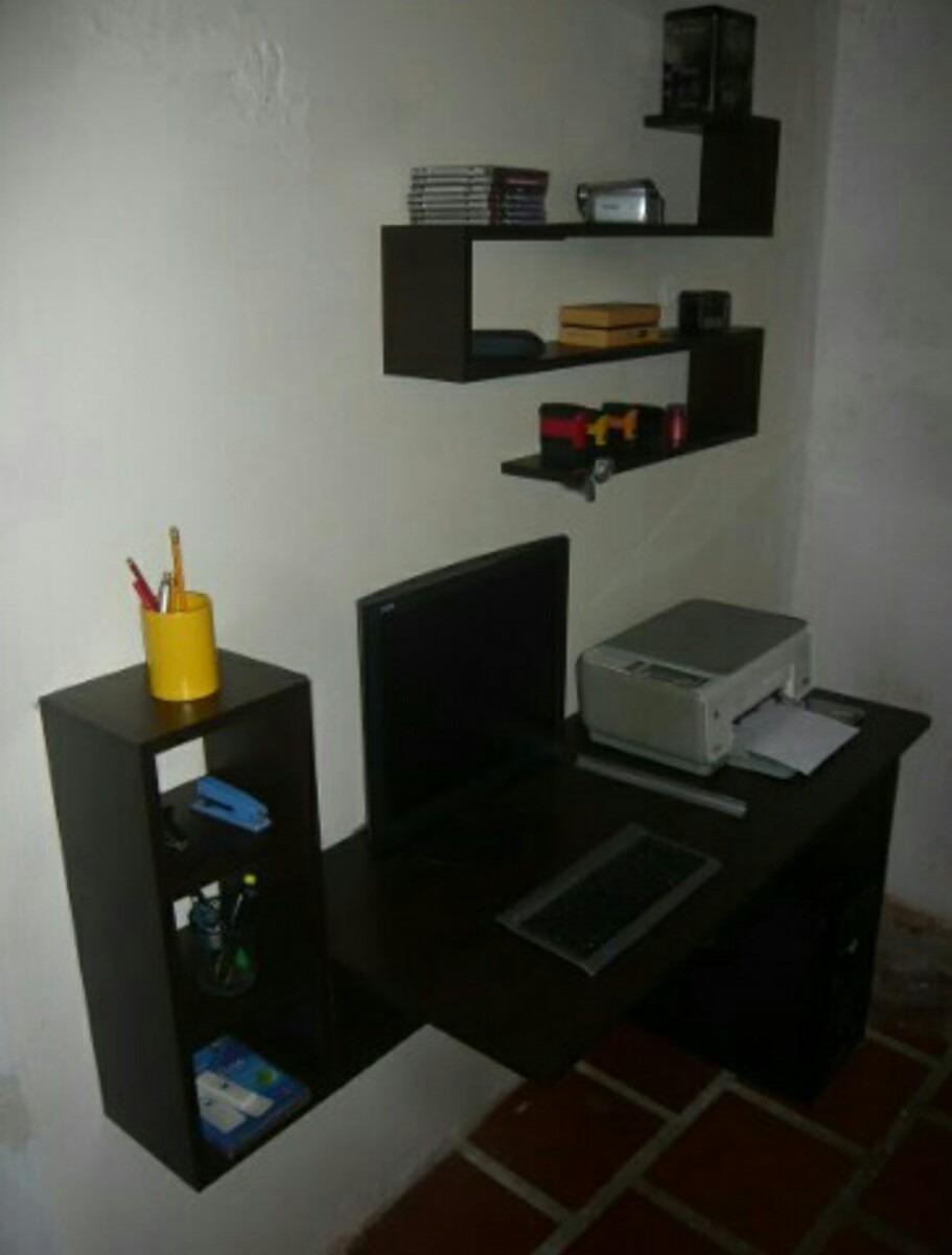 Escritorio Mesa Para Computadora Flotante Area Moderna